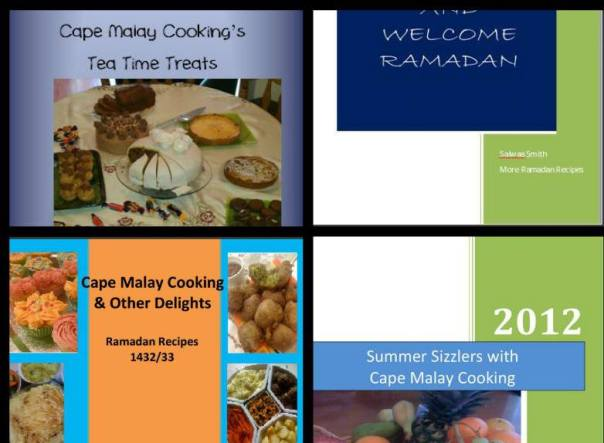 Set of 4 Cape Malay Cooking Recipe Books