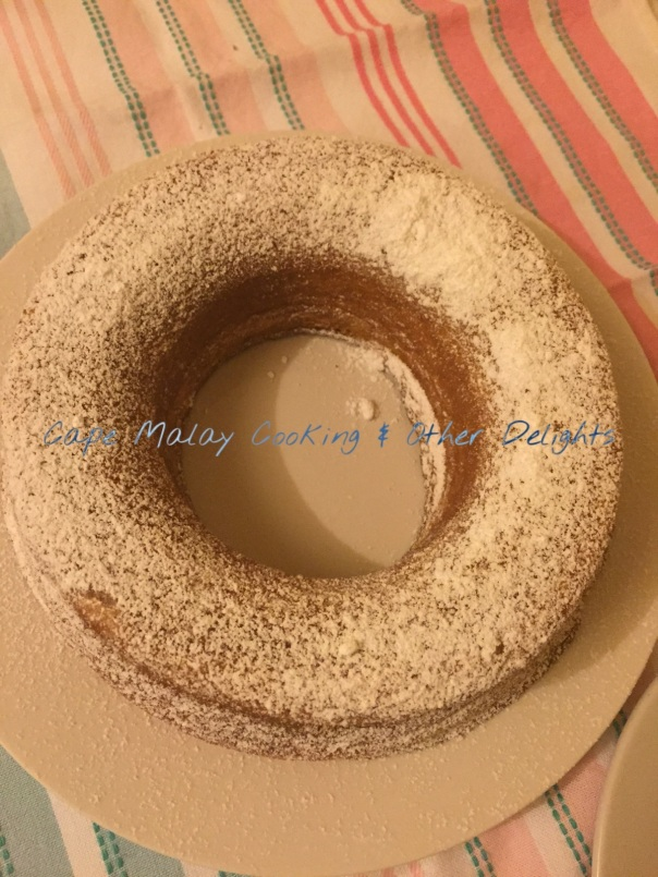 Yoghurt Cake Made In a Bundt Cake & Dusted With Icing Sugar