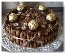 Chocolate Cake with ferrero