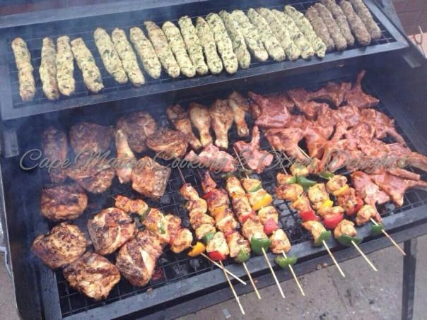 Chicken Kebabs Top Row
