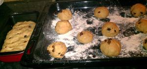 Raisin Buns - Before Baking